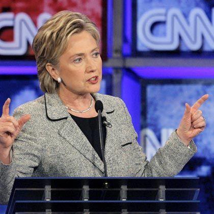 """Präsidentschaftsbewerberin Clinton: """"Ich werde hier in Las Vegas nicht die Frauen-Karte spielen"""""""