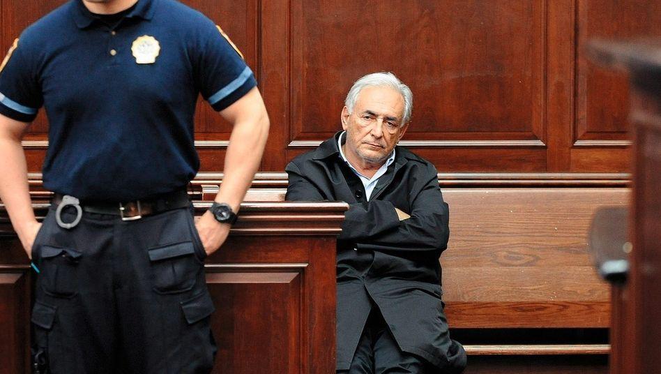 IWF-Direktor Strauss- Kahn vor Gericht in New York am 16. Mai, am Tag seiner Festnahme