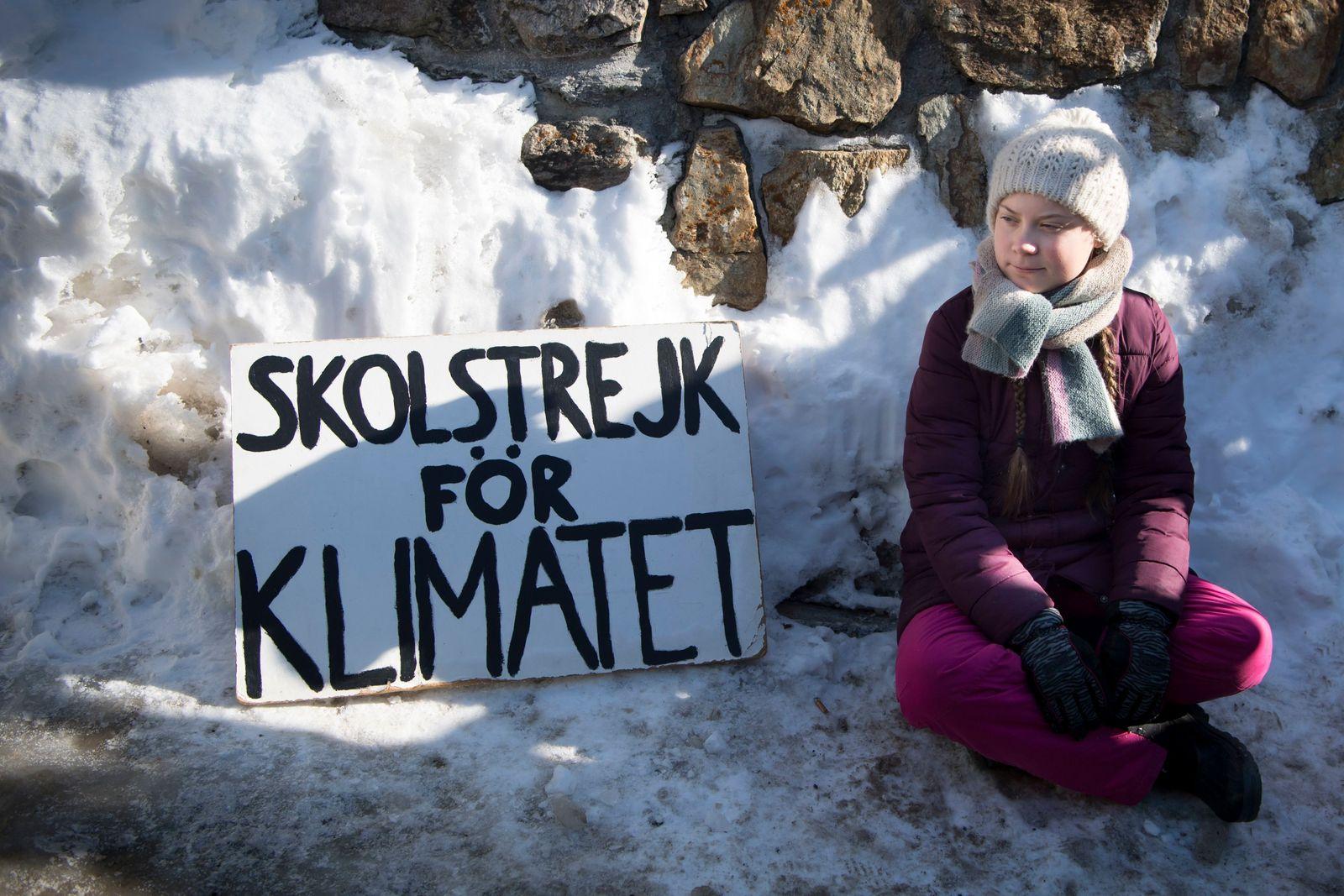 Greta Thunberg für Klima