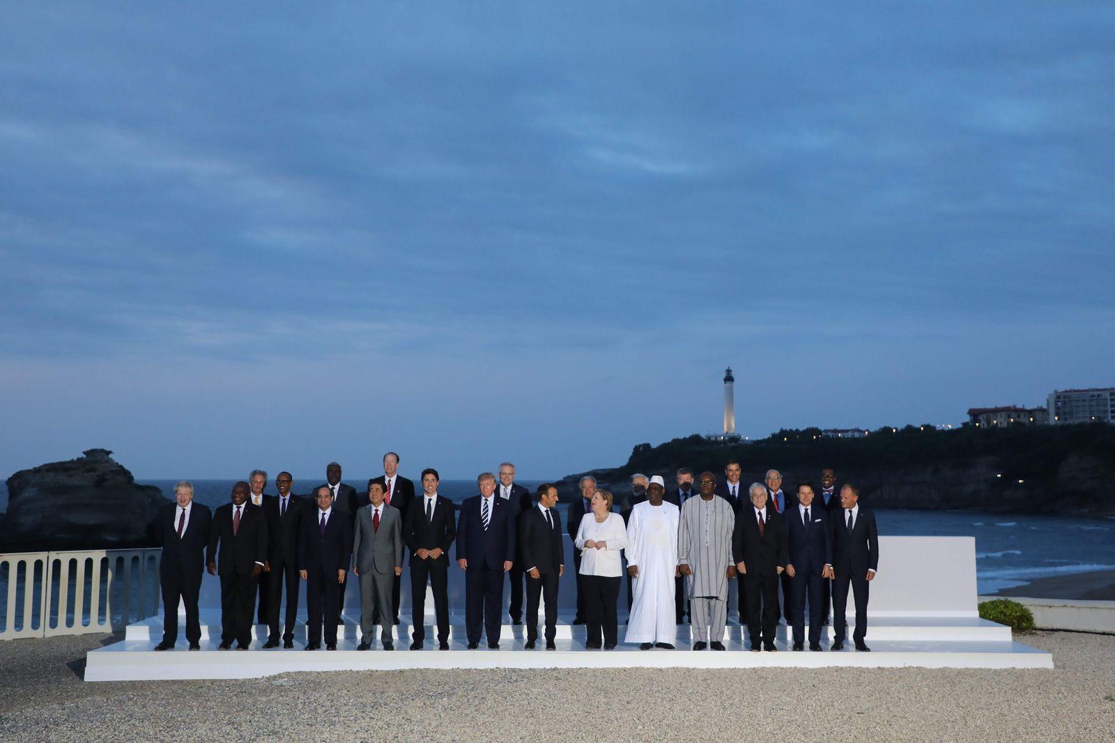 G7 Biarritz Merkel und Männer