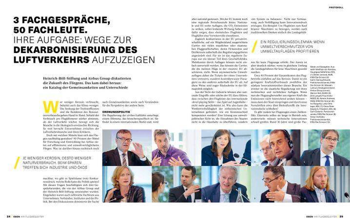 Broschüre von Airbus und der Heinrich-Böll-Stiftung