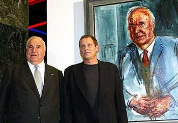 """Helmut Kohl mit Maler Albrecht Gehse: """"Jeder Strich ein Elfmeter"""""""