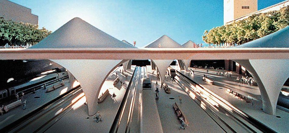 Modell des geplanten Stuttgarter Bahnhofs