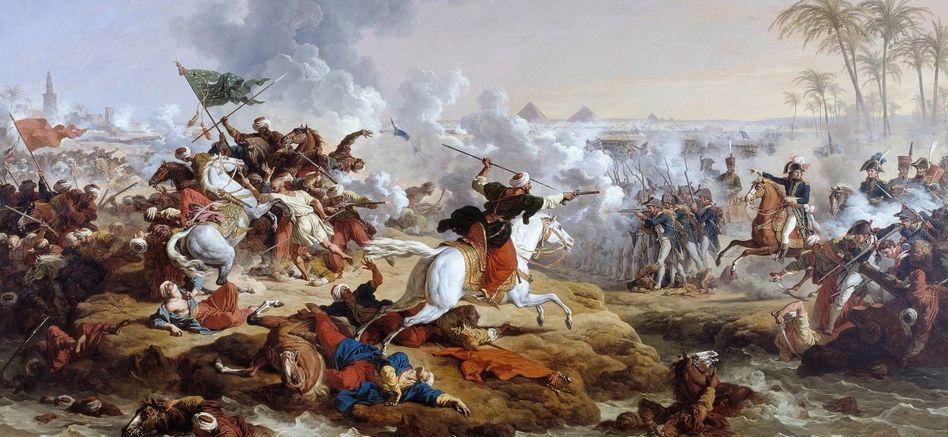 Napoleons größter Sieg in Ägypten: die »Schlacht bei den Pyramiden« (Gemälde von 1800)