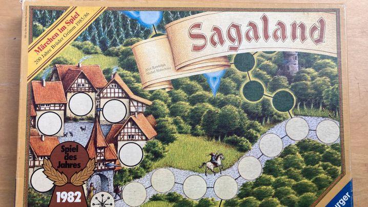 »Sagaland«-Karton damals (links) und heute