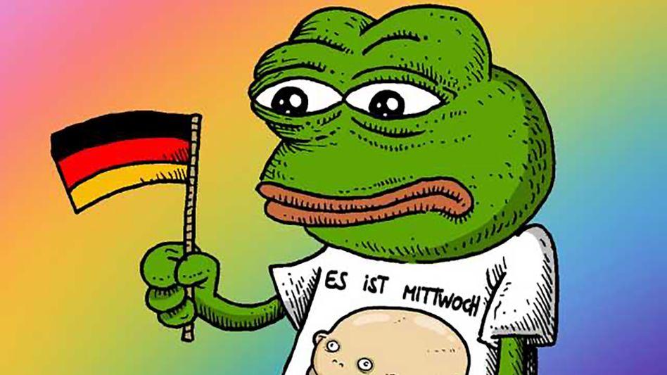 """""""Stramme Memes"""": """"Frösche sind cool, süß und witzig. Sie sollten nicht dazu benutzt werden, Hass von Rechtsextremen zu verbreiten."""""""
