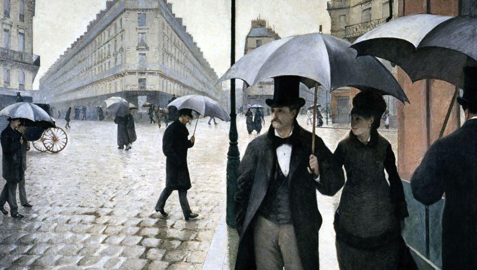 Pariser Straßenansicht von Gustave Caillebotte (1877): Flanieren ohne Ziel