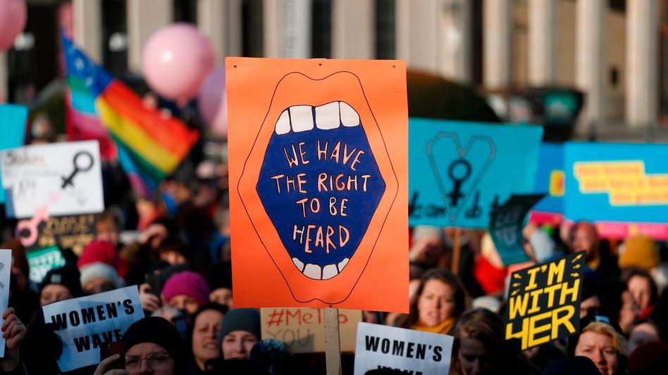 Protest für Frauenrechte in Berlin (Archivbild)