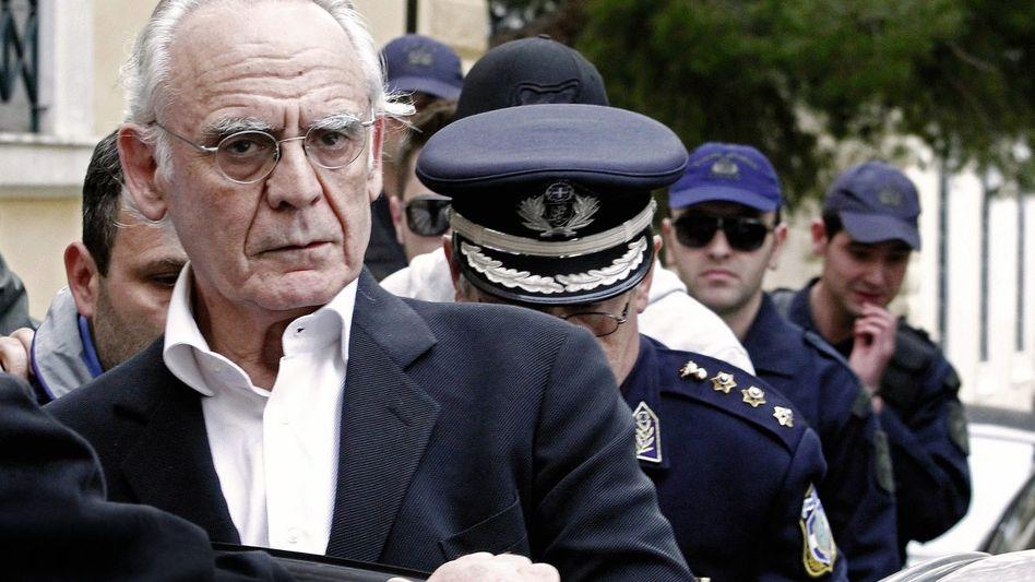 Verhafteter Ex-Minister Tsochatzopoulos