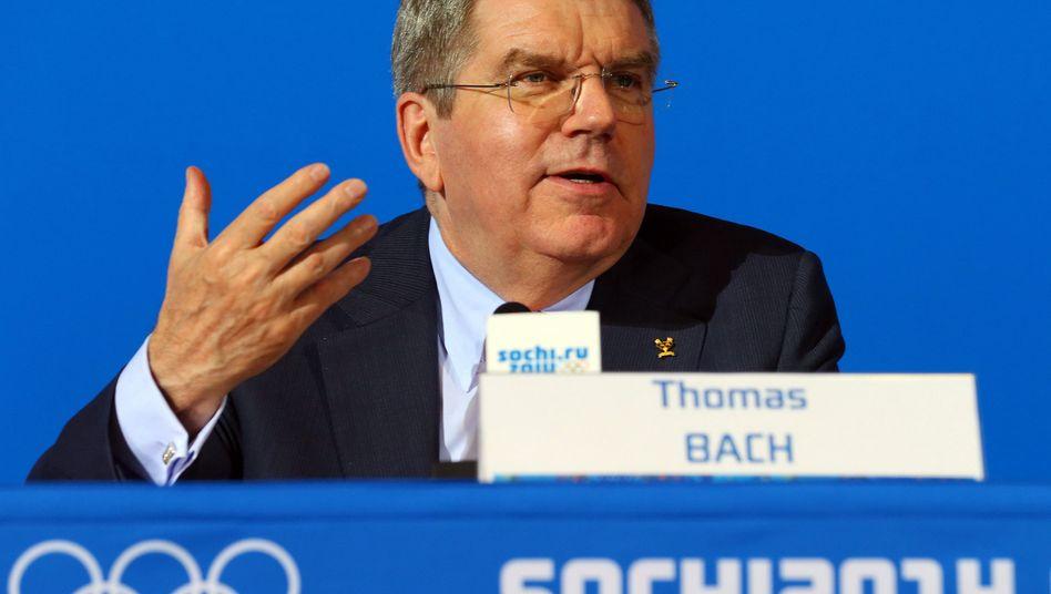 IOC-Präsident Thomas Bach in Sotschi: Krach mit Sportfunktionär