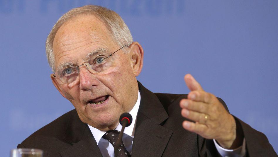 Finanzminister Schäuble: Der Tarif auf Rädern soll kommen