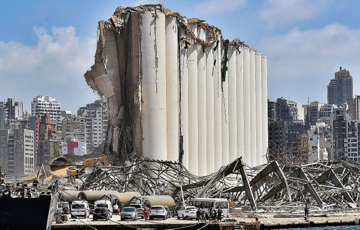 The destroyed grain silo at the port: His mother heard the explosion from high in the mountains.
