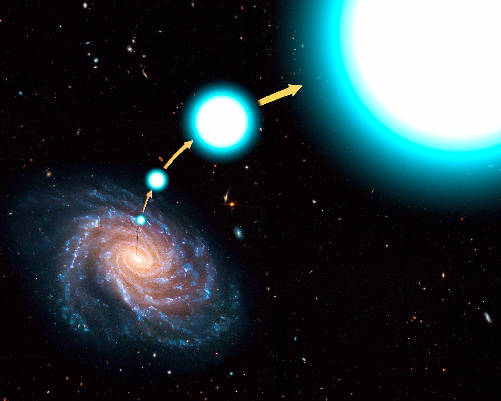 Rasender Riesenstern schießt aus Milchstraße raus