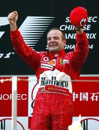 Fahrender Kühlschrank: Barrichello nach seinen Grand-Prix-Erfolg in Shanghai