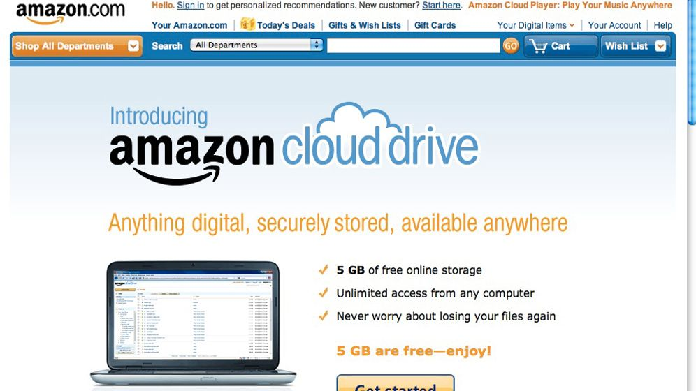 Amazon Cloud Drive: So kommen Sie in die Wolke