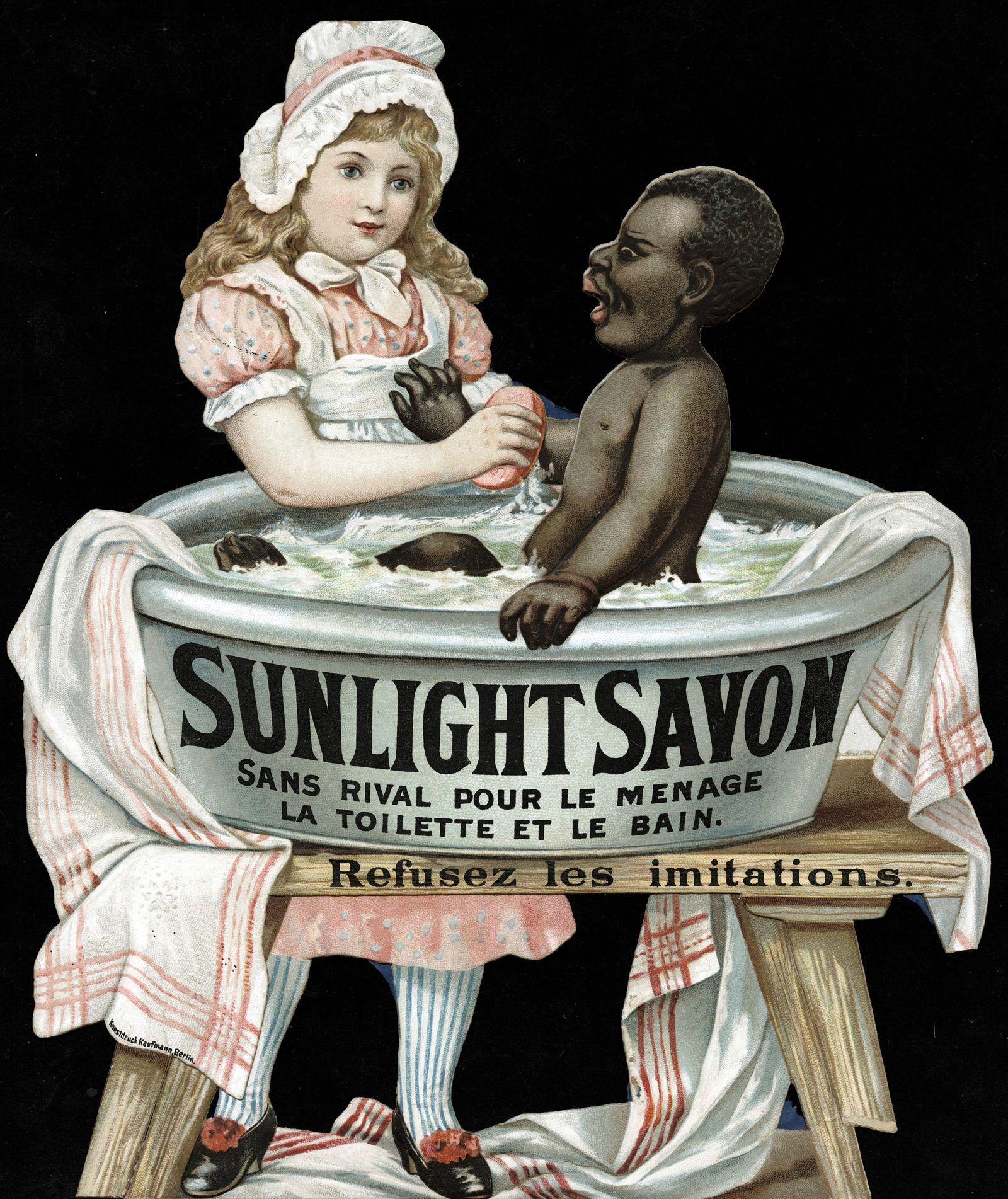 NEGRIPUB SAVON annees 1900 Sunlight savon, sans rival pour le menage, la toilette et le bain. Refusez les imitations . U