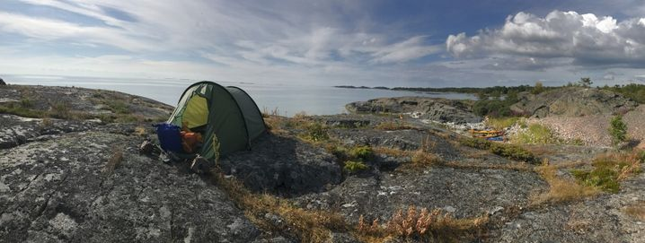 Zelten auf den Ålandinseln