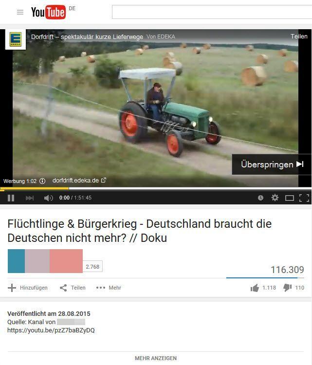 Edeka-Werbung vor Hetzvideo: Die Unternehmen ärgern sich über die Platzierungen