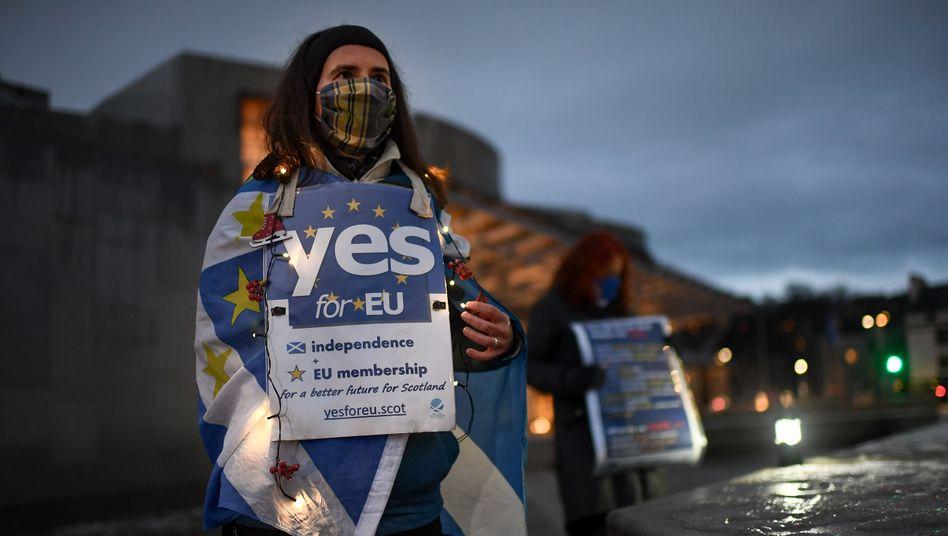 Pro-EU-Kundgebung in Edinburgh am 31. Dezember
