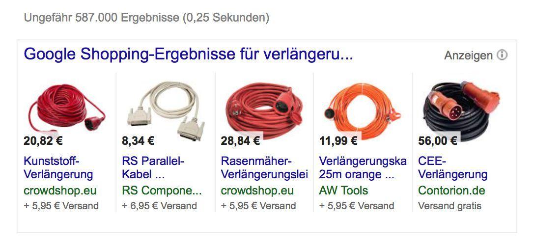 NUR ALS ZITAT Screenshot Google Suchergebnisse