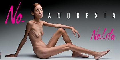 The Nolita ad campaign has shocked people with its image of an anorexic woman.