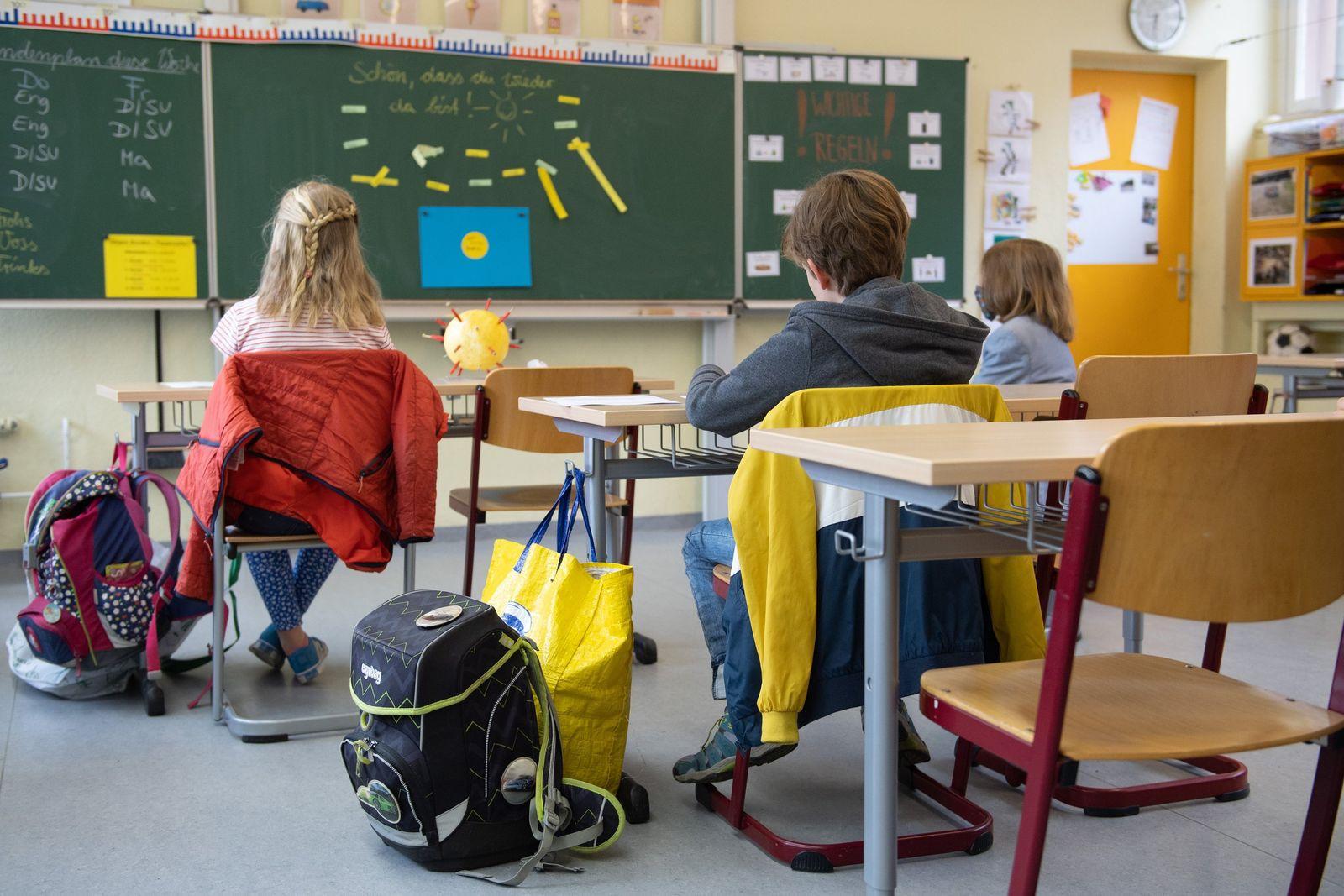 Coronavirus - Grundschule in Sachsen