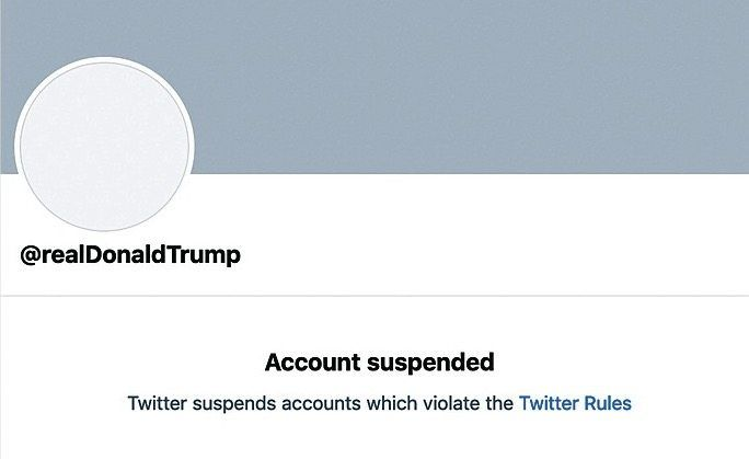Trump's blocked Twitter account