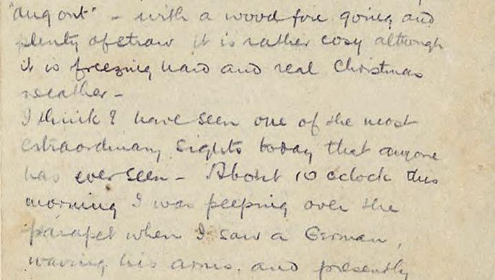 Weihnachten 1914: Der Brief von Captain Chater