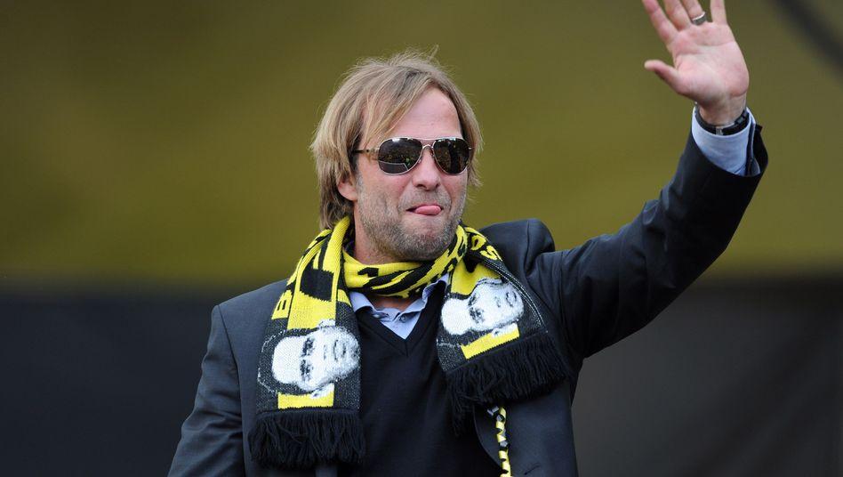 Fußballtrainer Jürgen Klopp (bei der Meisterfeier im Mai): Bye-bye Werbepartner Ergo