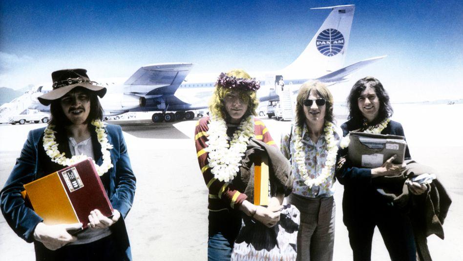 Led Zeppelinim Jahr 1969 am Flughafen von Honolulu: Seit Jahrhunderten übliche Bausteine