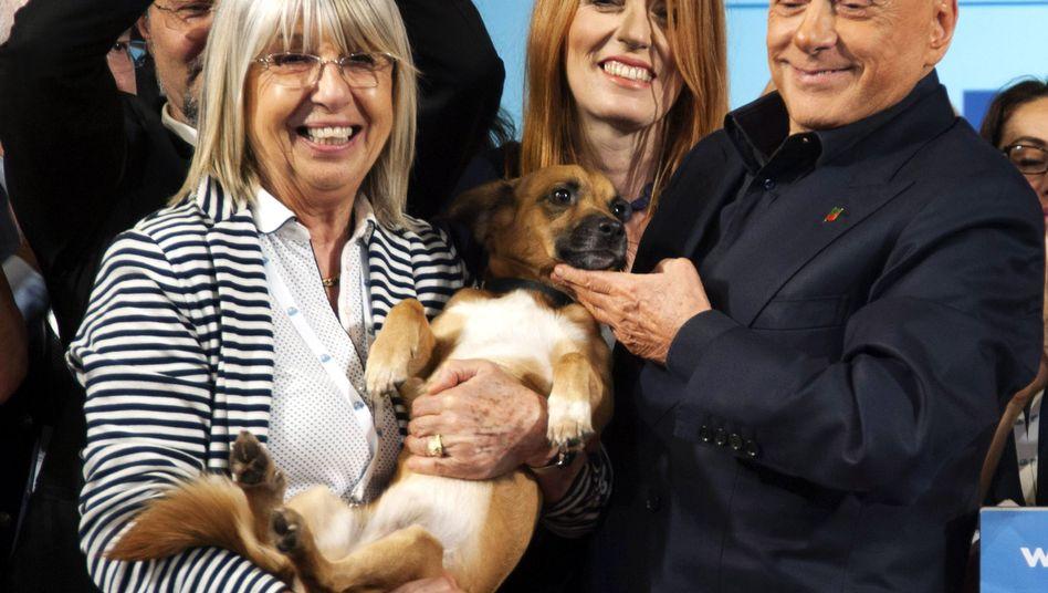 Silvio Berlusconi und Vittoria Brambilla