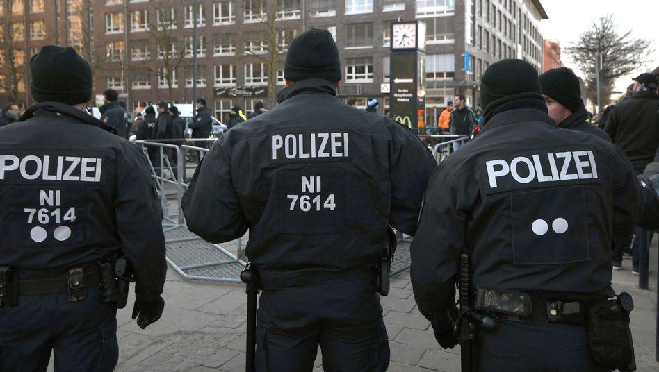 Polizei in der Bremer Innenstadt