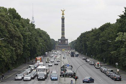 The Siegessäule -- or Victory Column -- in Berlin where Barack Obama is to speak on Thursday.