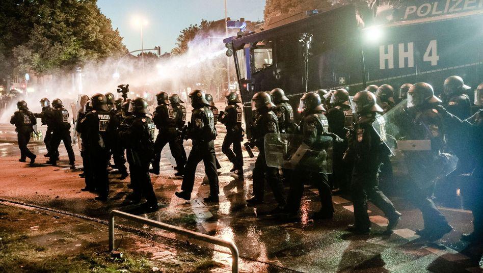 Polizisten während des G20-Gipfels