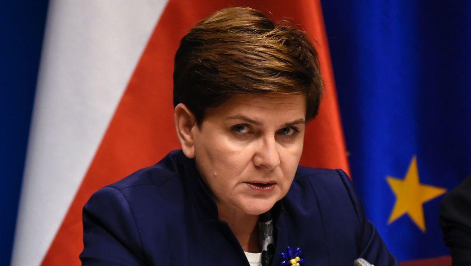 Polens Ministerpräsidentin Beata Szydlo in Brüssel (Archiv): Brüssel schickt Brandbrief an zwei ihrer Minister