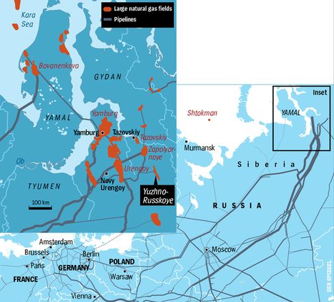 Siberia's gas fields supply much of Europe's energy.