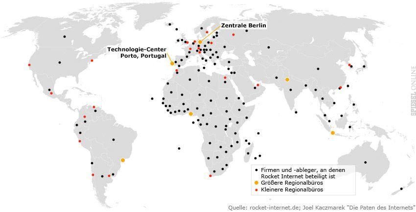 Grafik - Samwer-Imperium - Weltkarte