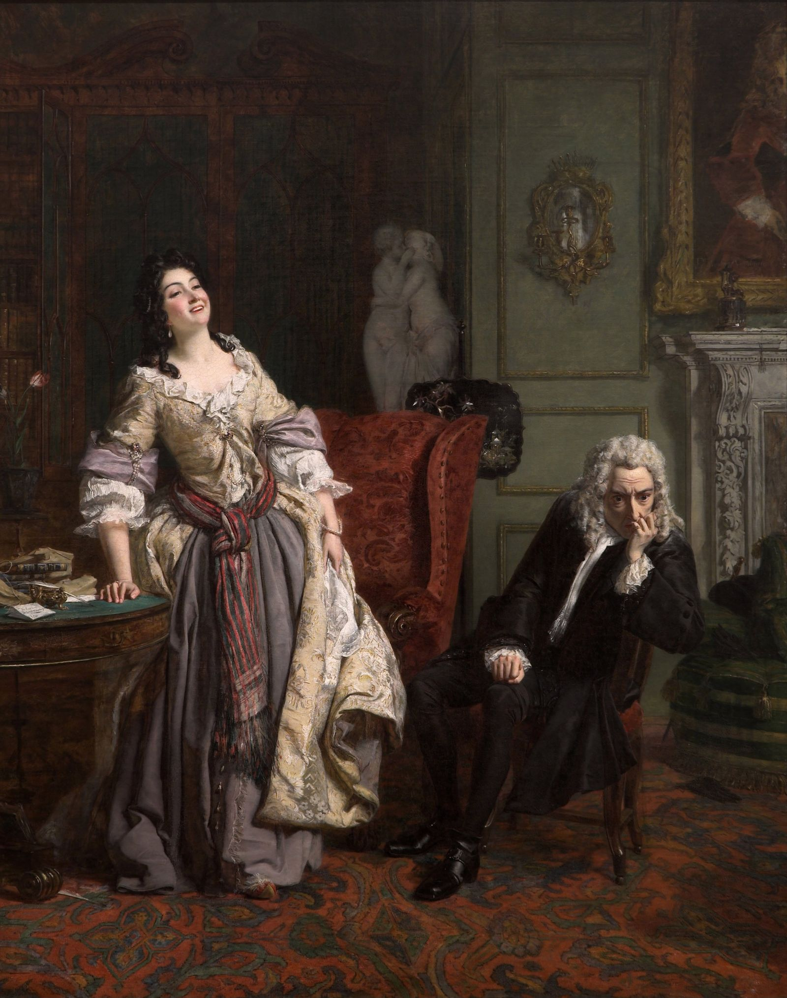 Alexander Pope declared his love to Lady Mary Wortley Montagu, 1852