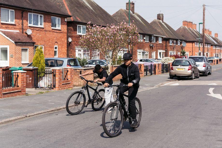 Jugendliche im Problembezirk Broxtowe in Nottingham