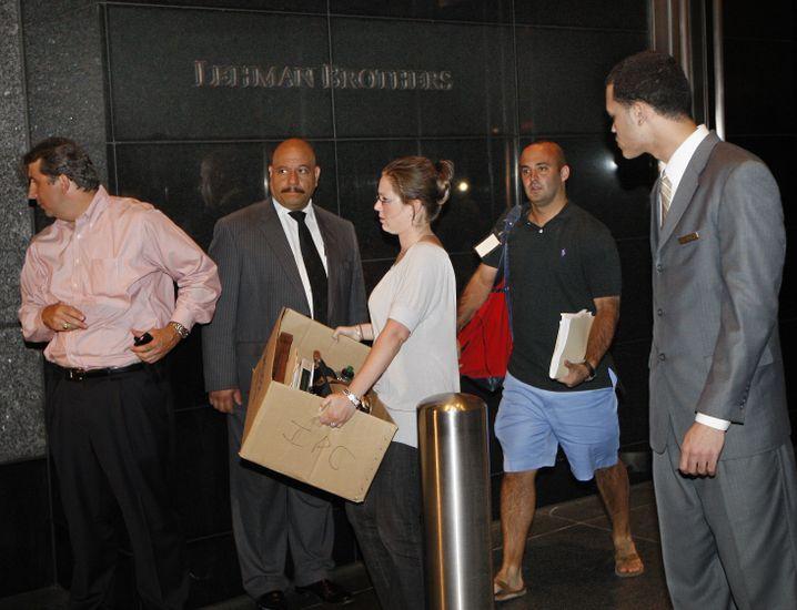 Lehman-Beschäftigte räumten ihre Büros