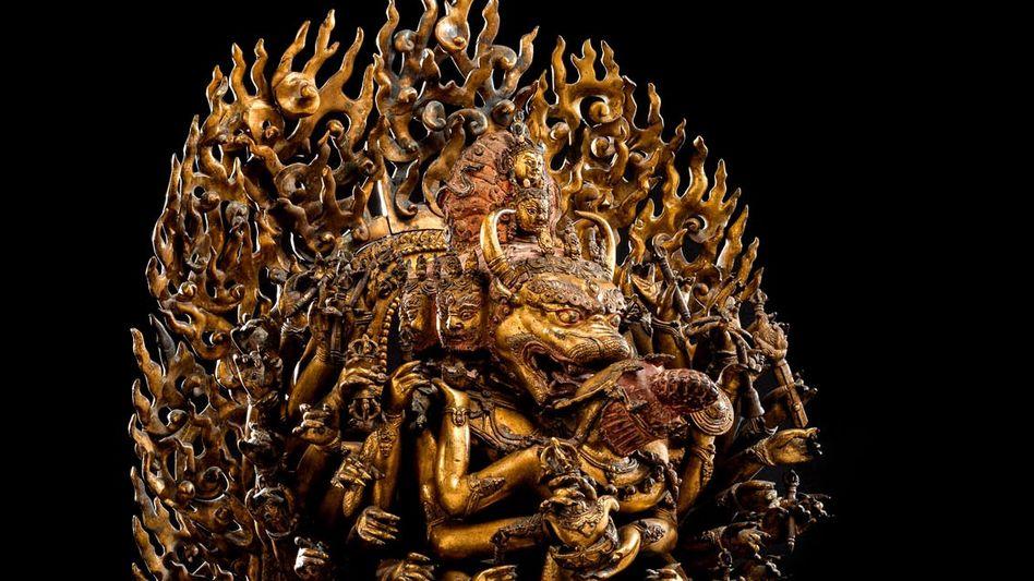 Zornvolle Gottheit: Das 500 Jahre alte Kunstobjekt wurde für den höchsten jemals erzielten Preis in Deutschland versteigert