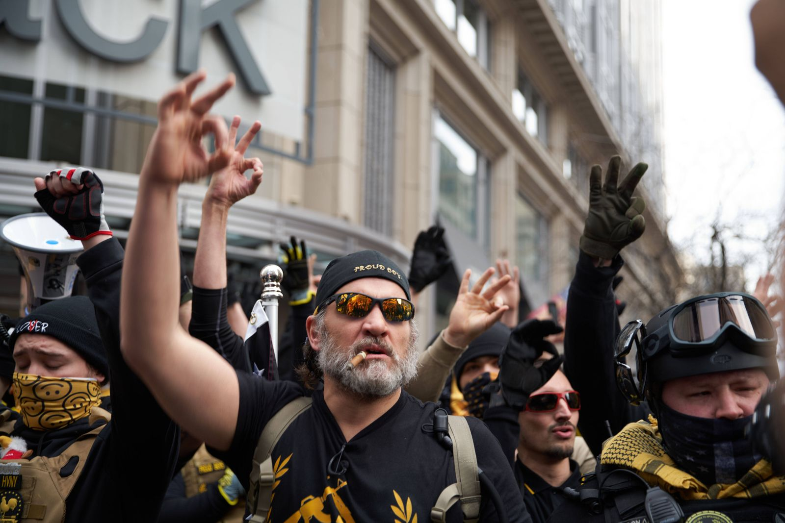 December 12, 2020, Washington Dc, U.S.A: The Proud Boys clashed with left-side protestors in Washington DC during a pro