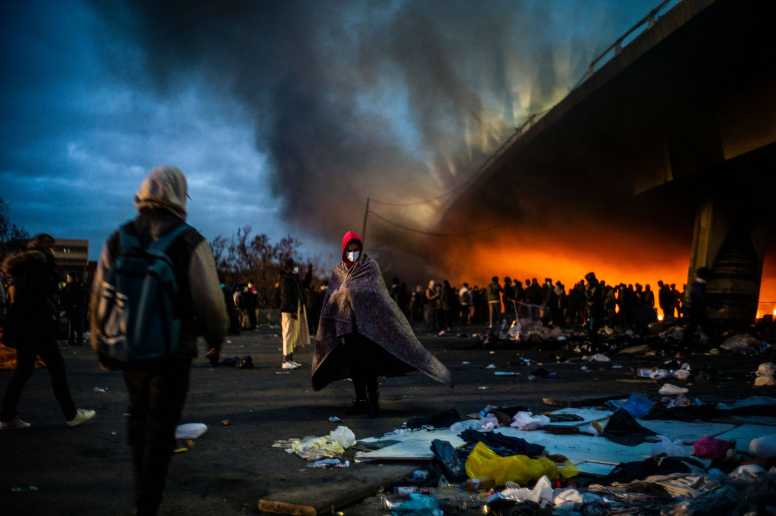 Migrants cleared from camps in Saint Denis., France - 17 Nov 2020