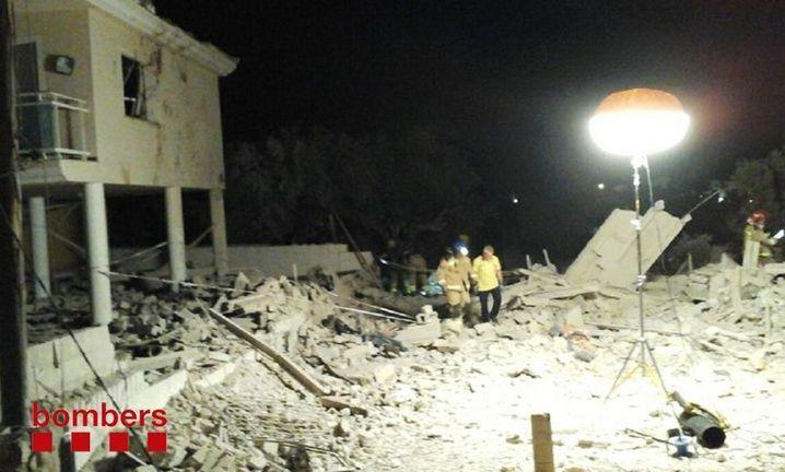 Trümmer des Wohnhauses in Alcanar am Mittwoch