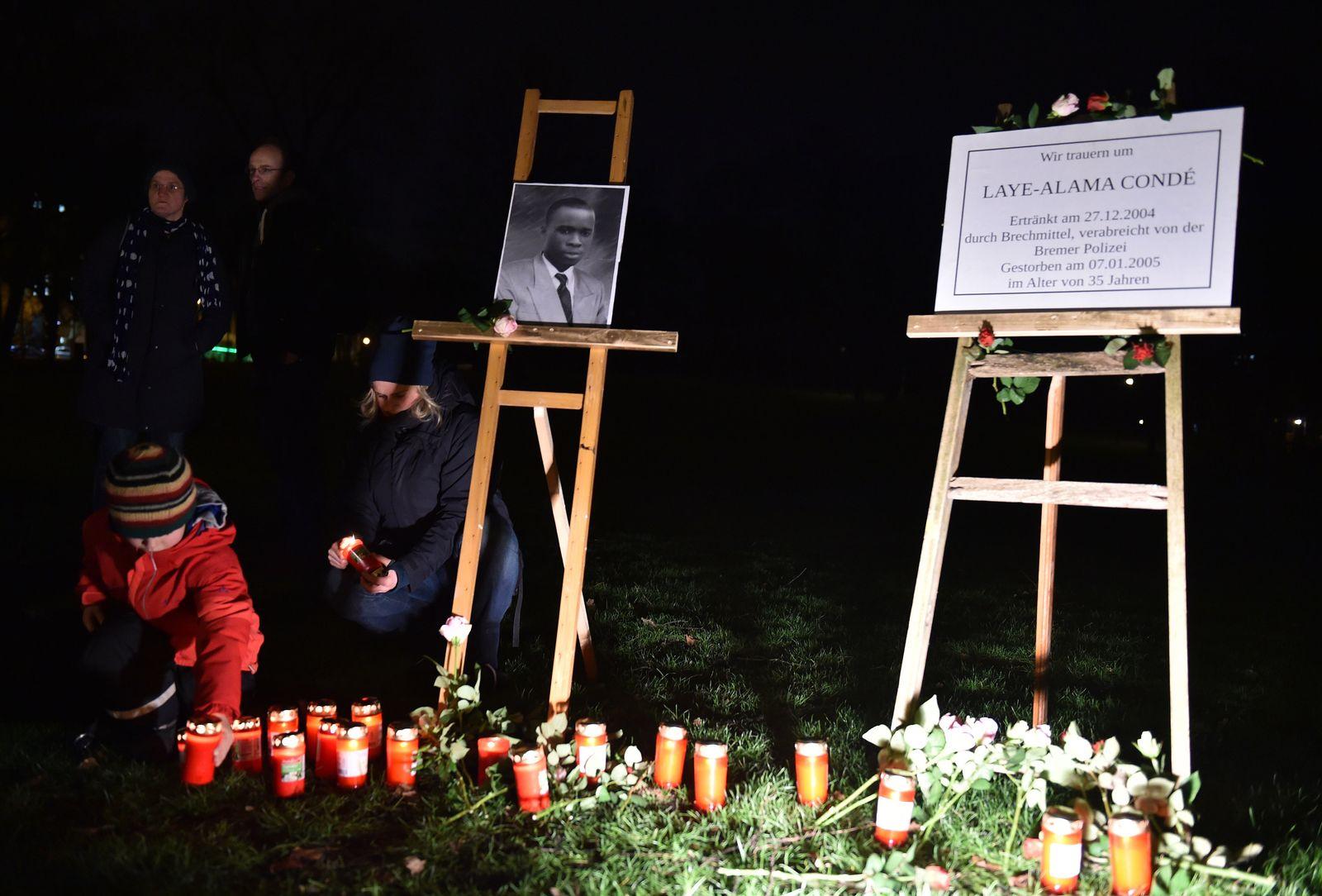 Gedenken an Tod von Laye Conde