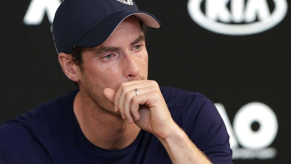 Andy Murray bei der Pressekonferenz in Melbourne