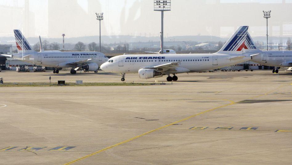 Air-France-Flugzeuge auf dem Flughafen Paris-Orly: Streik am Donnerstag
