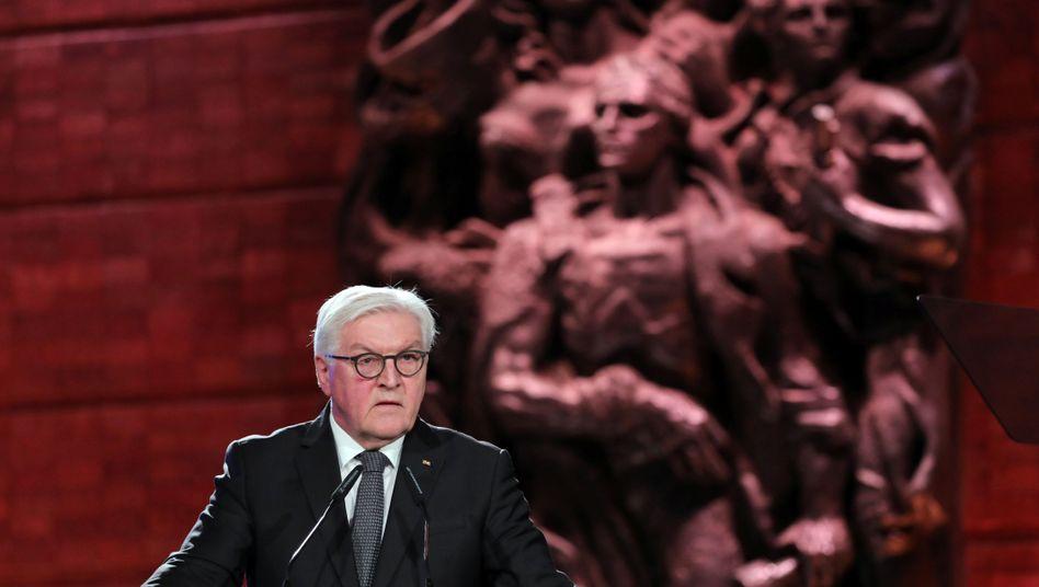 """Bundespräsident Steinmeier: """"Ich wünschte, sagen zu können: Wir Deutsche haben für immer aus der Geschichte gelernt."""""""
