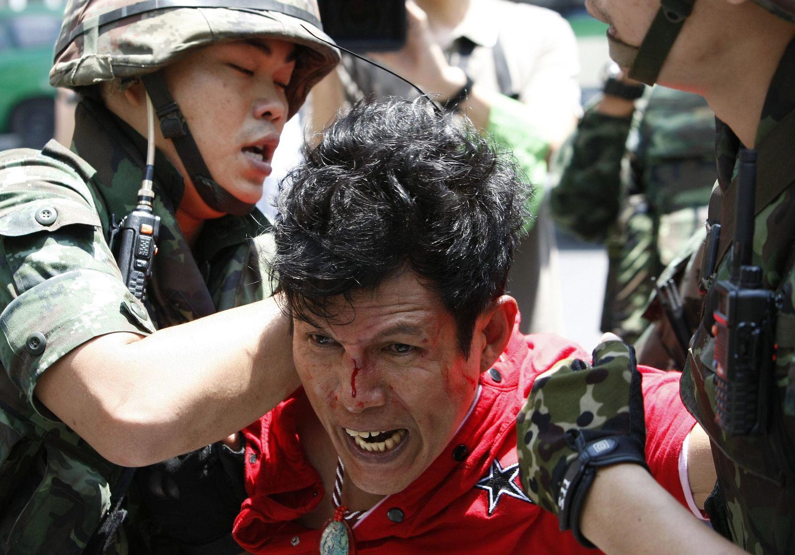 Demonstration against coup in Bangkok