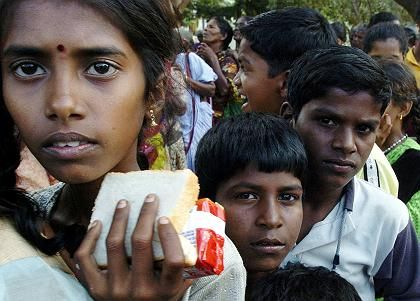 Tsunami-Überlebende in Indien